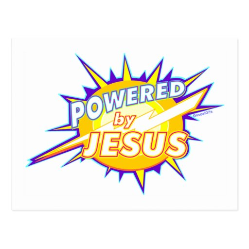 Powered by Jesus Christian gift design Post Cards