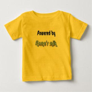 """""""Powered by mama's milk"""" Baby T-Shirt"""