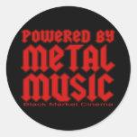 Powered by metal Music  fans Death metal Round Sticker