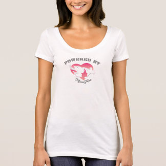 Powered by MomFire Scoop Neck T-shirt White