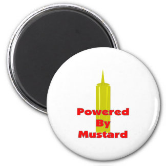 Powered by Mustard 2 Inch Round Magnet