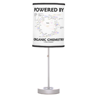 Powered By Organic Chemistry Krebs Cycle Humor Table Lamp