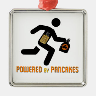 Powered by Pancakes Metal Ornament