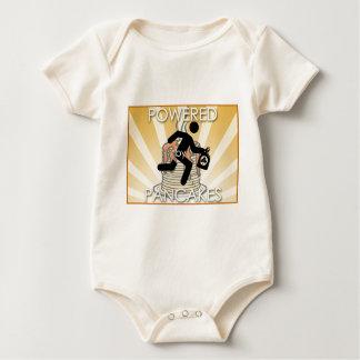 Powered by Pancakes Sunrays Logo - Hygge Baby Bodysuit