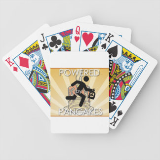 Powered by Pancakes Sunrays Logo - Hygge Bicycle Playing Cards
