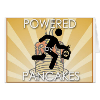 Powered by Pancakes Sunrays Logo - Hygge Card