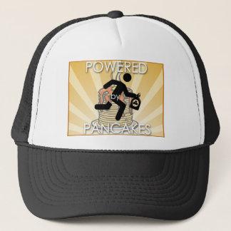 Powered by Pancakes Sunrays Logo - Hygge Trucker Hat