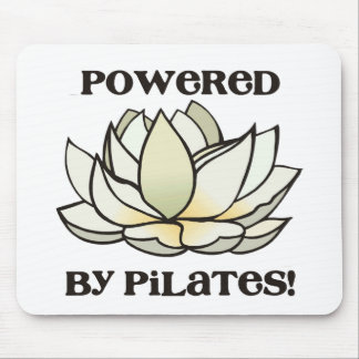 Powered By Pilates Lotus Mouse Pad