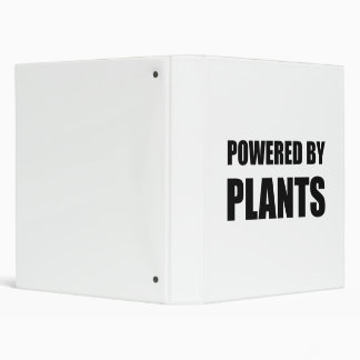 Powered By Plants 3 Ring Binders
