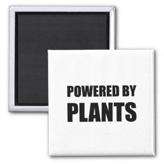 Powered By Plants Square Magnet