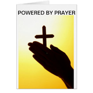 Powered by Prayer greeting cards