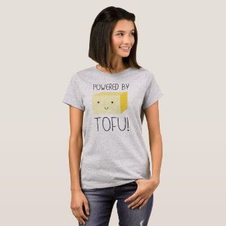 Powered by Tofu with Illustrated Smiling Tofu T-Shirt