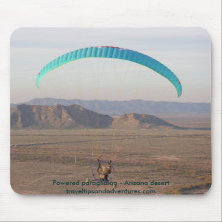 Powered paragliding - Arizona desert Mouse Pad