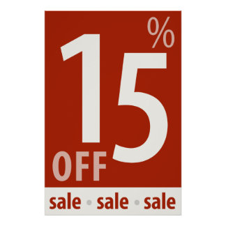 Powerful 15% OFF SALE Sign - retail sales