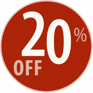 Powerful 20% OFF SALE Sign - Ornament Photo Cut Out