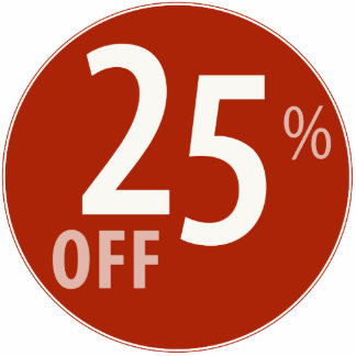 Powerful 25% OFF SALE Sign - Ornament Photo Sculpture Ornament