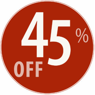 Powerful 45% OFF SALE Sign - Ornament Photo Sculpture Ornament