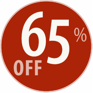 Powerful 65% OFF SALE Sign - Ornament Acrylic Cut Outs