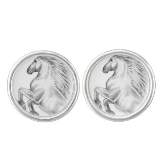 Powerful Andalusian Horse Cufflinks