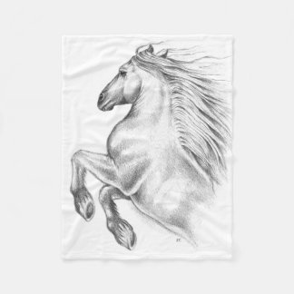 Powerful Andalusian Horse Fleece Blanket