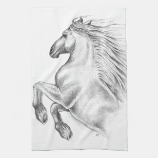 Powerful Andalusian Horse Kitchen Towel