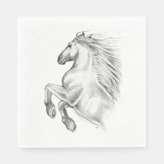 Powerful Andalusian Horse Paper Napkins