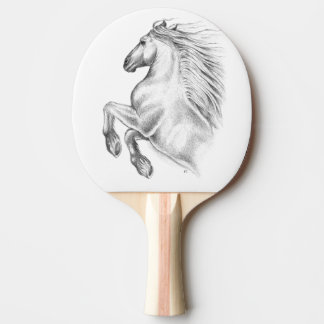 Powerful Andalusian Horse Ping Pong Paddle