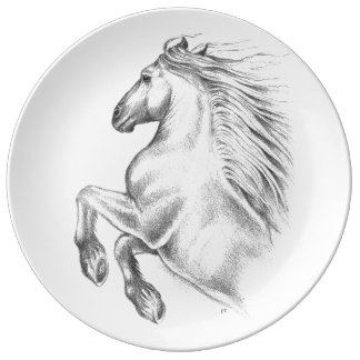Powerful Andalusian Horse Plate