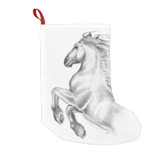Powerful Andalusian Horse Small Christmas Stocking