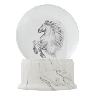 Powerful Andalusian Horse Snow Globe