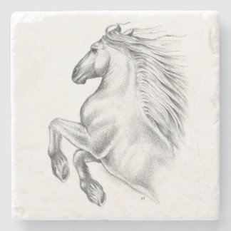 Powerful Andalusian Horse Stone Coaster