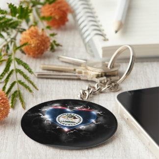 Powerful Belize Keychain