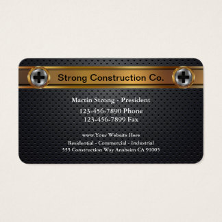 Powerful Construction Business Cards
