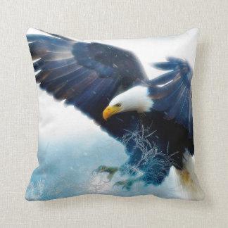 Powerful Eagle Throw Pillow
