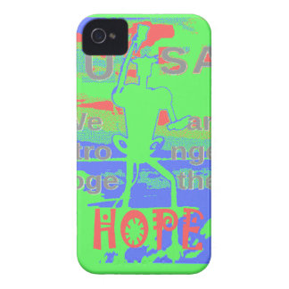 Powerful ECO USA Hillary Hope We Are Stronger Toge iPhone 4 Case-Mate Case