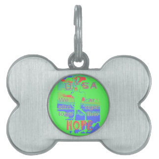 Powerful ECO USA Hillary Hope We Are Stronger Toge Pet Tag