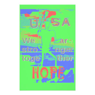 Powerful ECO USA Hillary Hope We Are Stronger Toge Stationery Paper