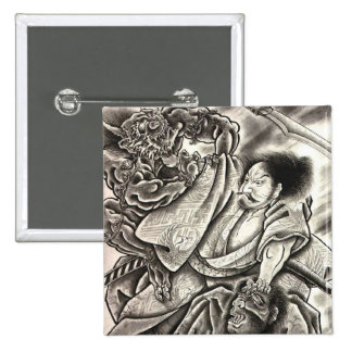 powerful japanese demon pin