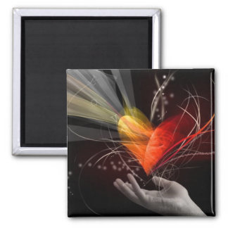 Powerful Love Square Magnet