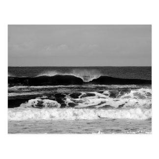 Powerful Pacific Ocean III Monochrome Postcard