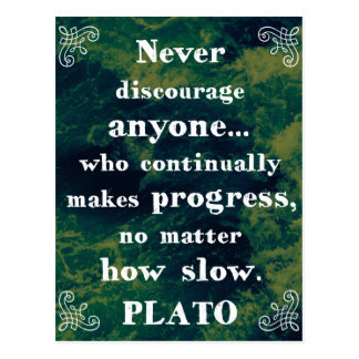 Powerful Plato Support/Help/Change Quote Postcard