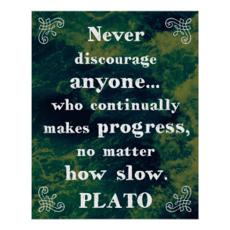 Powerful Plato Support/Help/Change Quote Poster