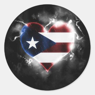 Powerful Puerto Rico Classic Round Sticker