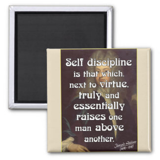 Powerful Self Discipline Quote Magnet