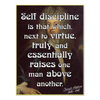 Powerful Self Discipline Quote Poster