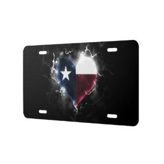 Powerful Texas License Plate
