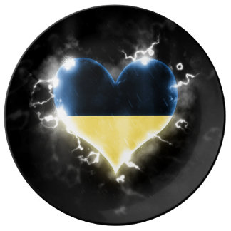 Powerful Ukraine Porcelain Plate