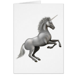 Powerful Unicorn illustration Greeting Cards