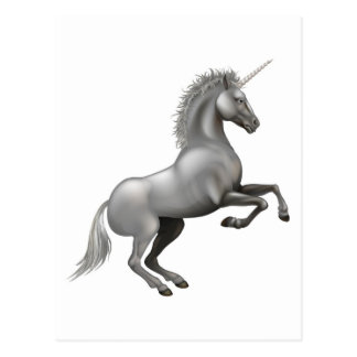 Powerful Unicorn illustration Postcards