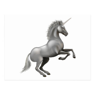 Powerful Unicorn illustration Postcard